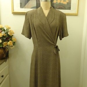 A.B.S by Allen Schwartz Vintage Midi Wrap Dress